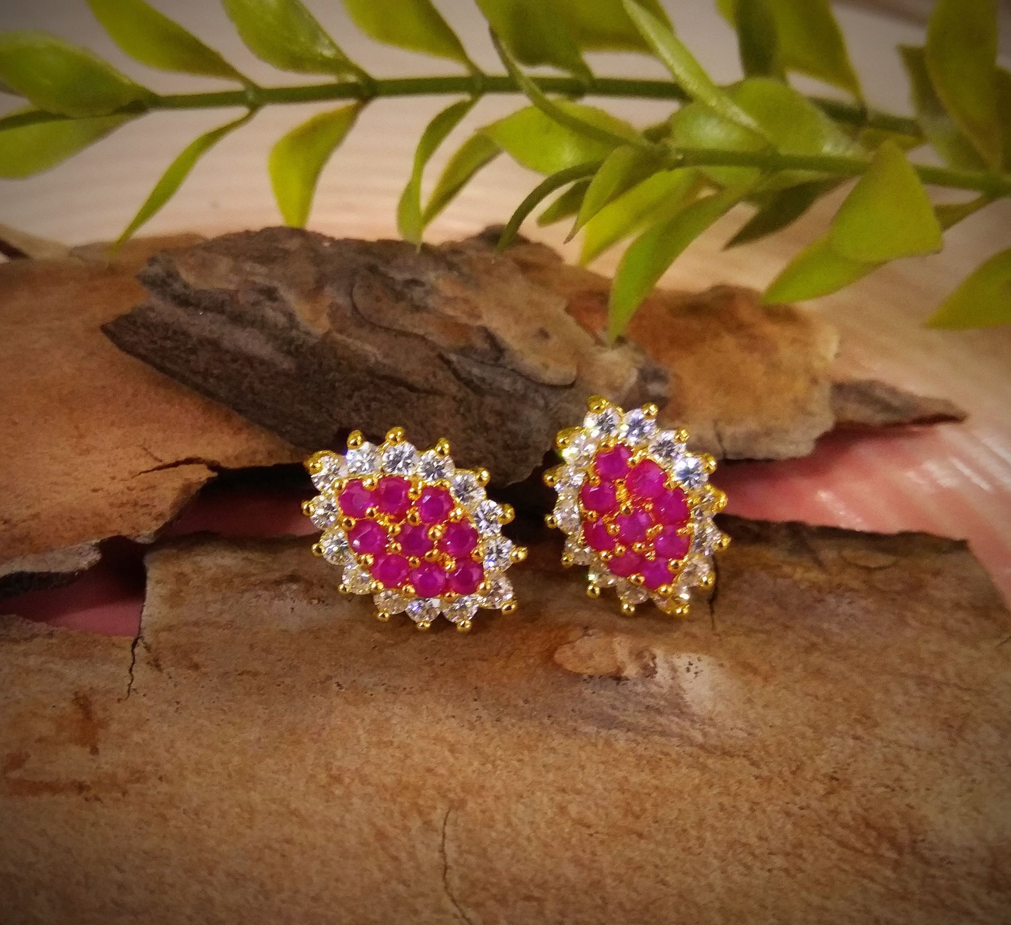 Beautiful Ruby Studs