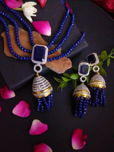 Blue Beaded Neckwear