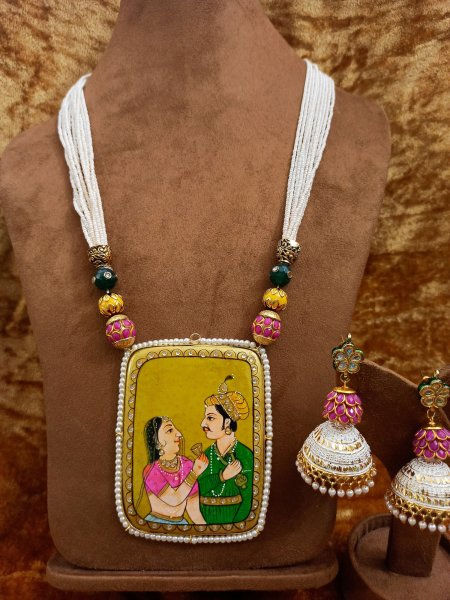 Gorgeous Handpainted jewelry set