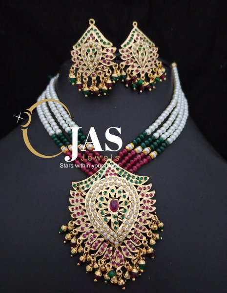 Traditional Jadau Necklace Set